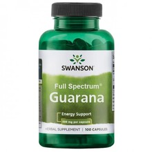 ЭНЕРГЕТИК SWANSON GUARANA 500 MG - 100 КАПСУЛ