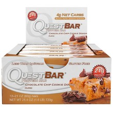 QuestBar Chocolate Chip Cookie Dough (уп. 12шт)